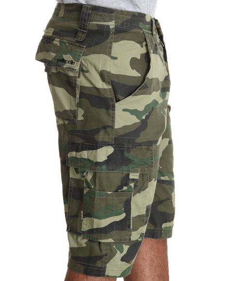 Pelle Pelle Men Green Pelle Camo Cargo Shorts