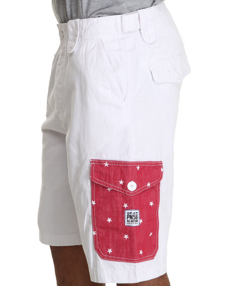 Parish White Star Cargo Shorts