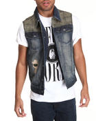 Vests - Clint Denim Vest