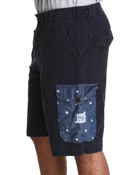Parish Navy Star Cargo Shorts