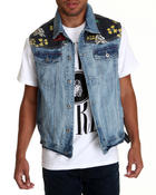 Men - Mugwort Denim vest