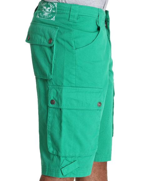 Pelle Pelle Men Green Pelle Classic Cargo Shorts