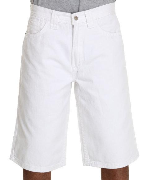 Pelle Pelle Men White Flap Pocket Shorts