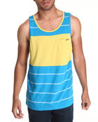 Men - Black Out Stripe Tank