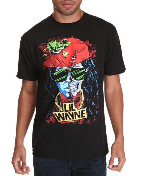 DRJ Music Merch - Lil Wayne Half Skull Tee