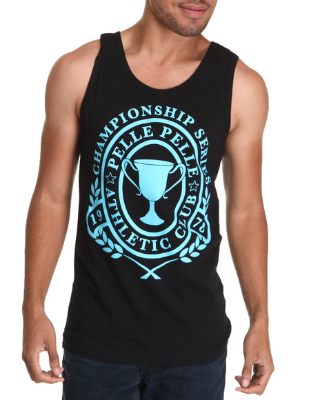 Pelle Pelle Men Black Pelle Champ Tank Top