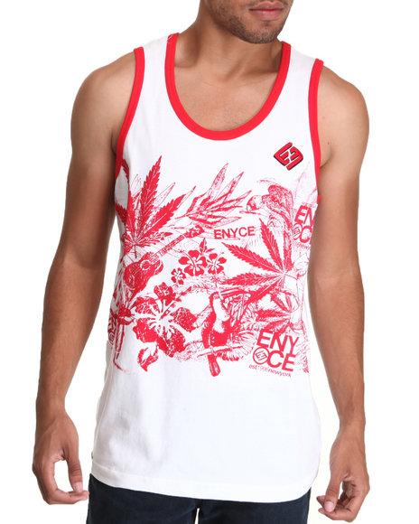 Enyce Men Red,White Endless Summer Tank