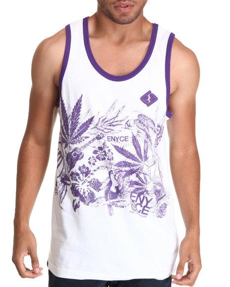 Enyce Men Purple,White Endless Summer Tank