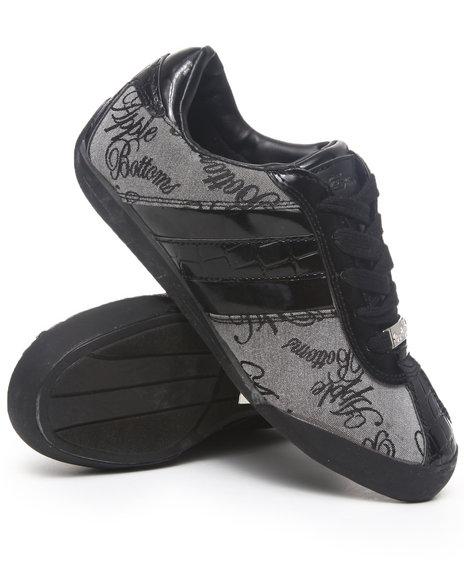 Apple Bottoms Women Black,Grey Ally Sneakers