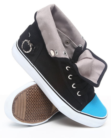 Apple Bottoms - Women Black,Grey Elden Fold Over Sneaker - $19.99