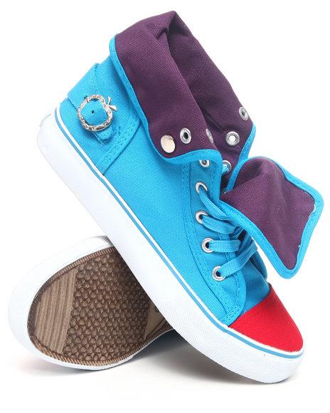 Apple Bottoms Women Blue Elden Fold Over Sneaker