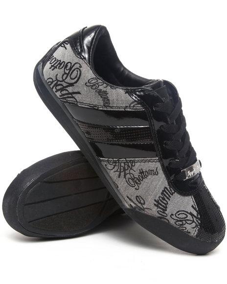 Apple Bottoms - Women Grey Amore Patent Trim Sneaker