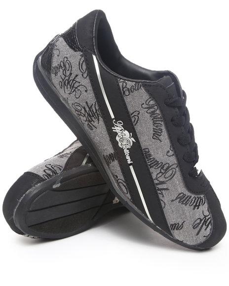 Apple Bottoms Women Grey Apple Signature Low Profile Croc Back Patch Sneaker