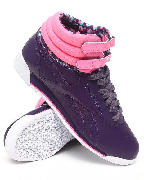 Reebok Women Purple Freestyle Hi Sneakers