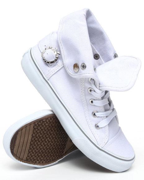 Apple Bottoms Women White Elton Canvas Sneaker