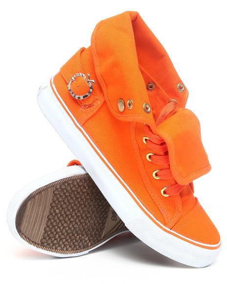 Apple Bottoms Women Orange Elton Canvas Sneaker
