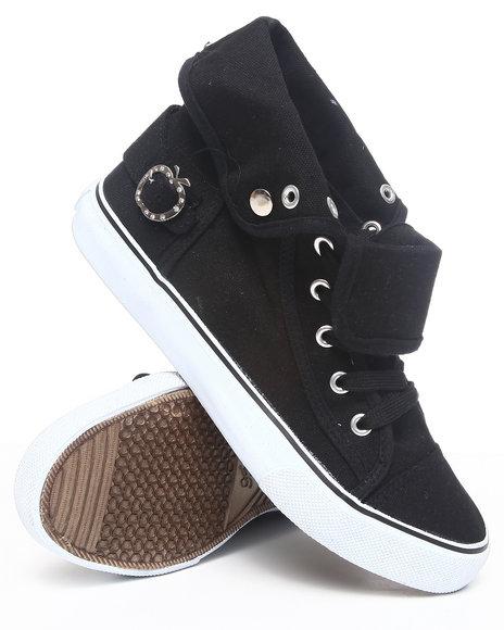 Apple Bottoms Women Black Elton Canvas Sneaker