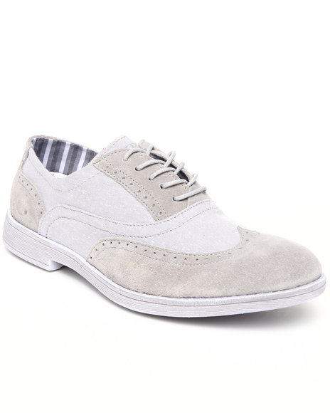 Hey Dude Footwear Men Light Grey Vinci Wingtip