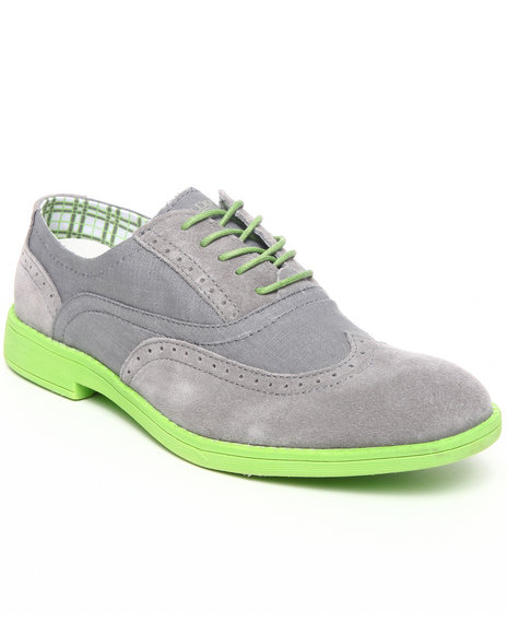 Hey Dude Footwear Men Charcoal Vinci Neon Wingtip