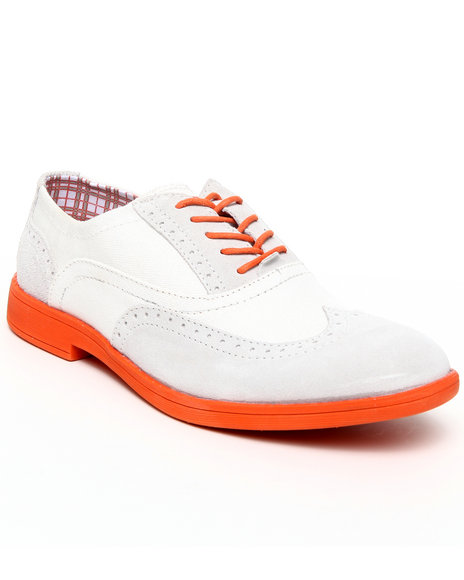 Hey Dude Footwear Men White Vinci Neon Wingtip