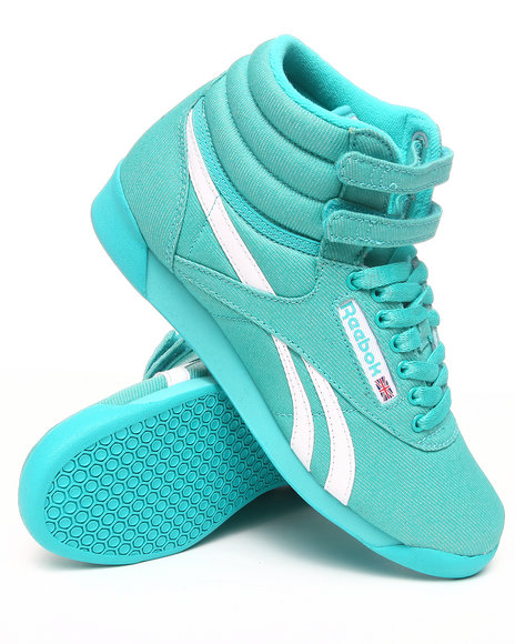 Reebok Women Teal Freestyle Hi Txt Sneakers