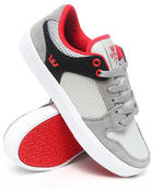 Supra - Vaider LC Light Grey Suede/Microperf Leather Sneakers
