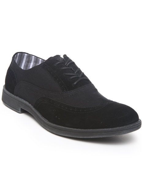 Hey Dude Footwear Men Black Vinci Wingtip