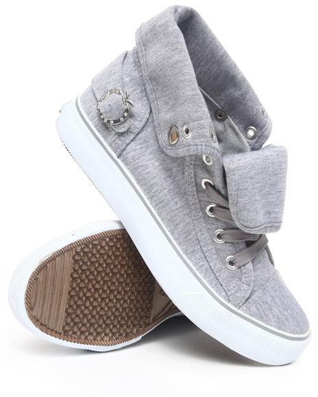 Apple Bottoms Women Grey Elton Canvas Sneaker