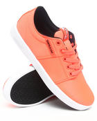 Footwear - Stacks Fluorescent Orange Nylon Sneakers