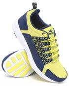 The Skate Shop - Owen Yellow Mesh/Navy Blue Microfiber Sneakers