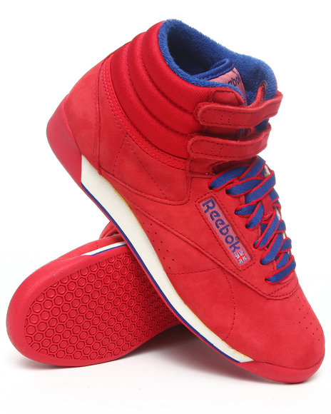 Reebok Women Red Freestyle Hi Vintage Intl Sneakers