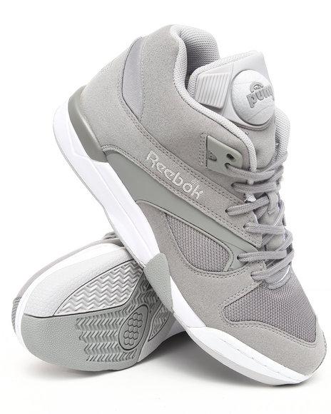 Reebok Grey Court Victory Pump Sneakers