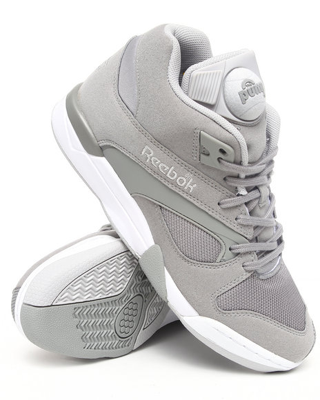 Reebok Men Grey Court Victory Pump Sneakers