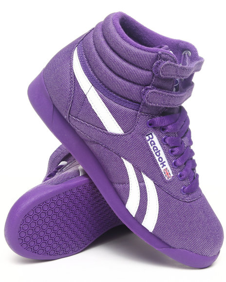 Reebok Purple Freestyle Hi Txt Sneakers