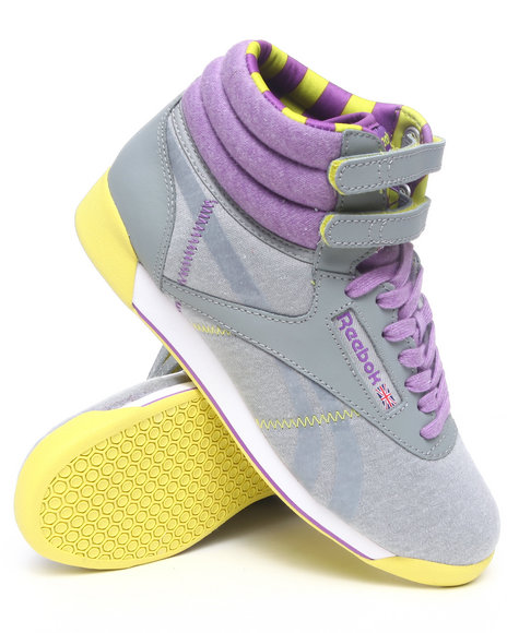 Reebok Women Grey Freestyle Hi Sneakers
