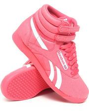 Reebok - Freestyle Hi TXT Denim Sneakers
