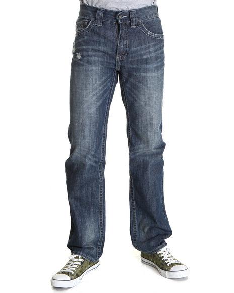 Pelle Pelle Men Dark Wash Flap Pocket Denim Pants