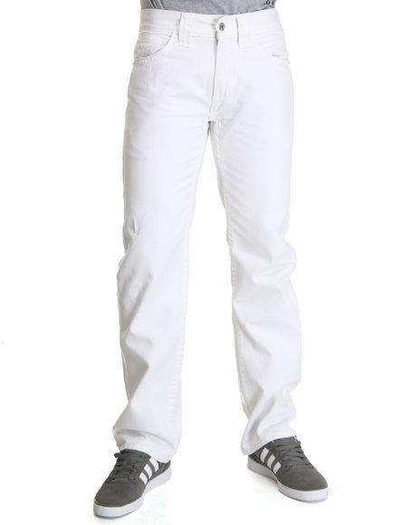 Pelle Pelle Men White Flap Pocket Pants