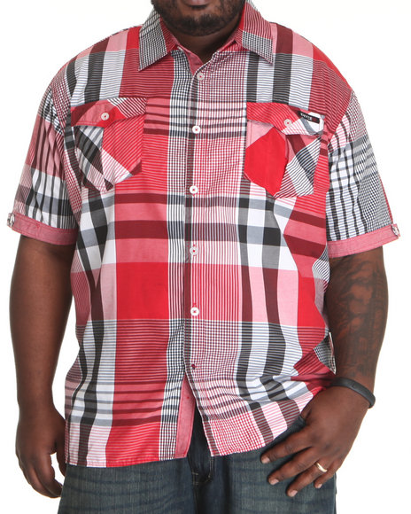Enyce Men Red Noel S/S Button-Down (B&T)