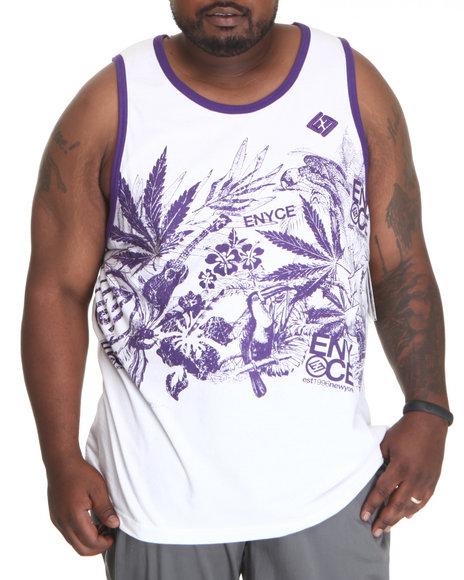 Enyce Men Purple,White Endless Summer Tank (B&T)