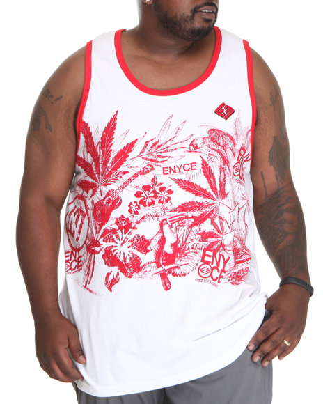 Enyce Men Red,White Endless Summer Tank (B&T)