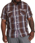 Button-downs - Washington Plaid Short Sleeve Woven Shirt