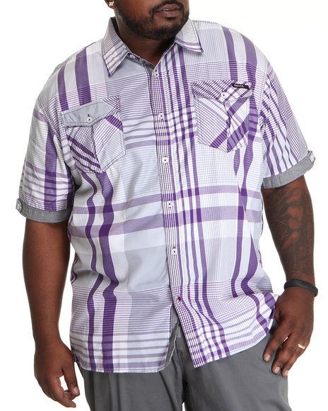 Enyce Men Purple Noel S/S Button-Down (B&T)