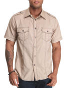 Button-downs - Short Sleeve Woven Shirt