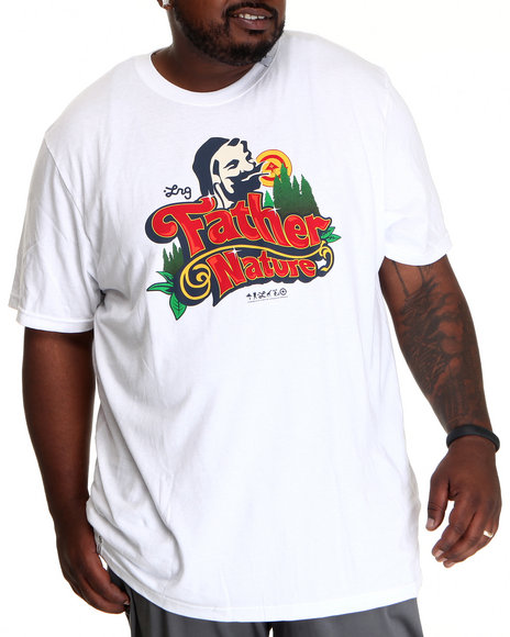 LRG Men White Father Nature S/S Tee (B&T)