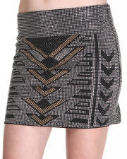 DJP Boutique - Dance In the Dark Studded Skirt