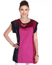 Women - Tunic Mix fabrication Top