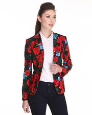 Women - Rose Printed Blazer