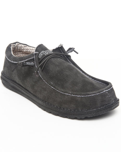 Hey Dude Footwear Men Black Wally Lo