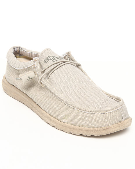 Hey Dude Footwear Men Beige Wally Lo